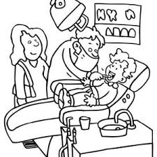 dentist coloring pages cute dental health coloring pages