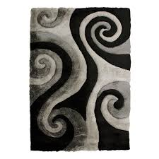 Black Grey And White Area Rugs by Donnieann Shag Area Rugs Rugs The Home Depot