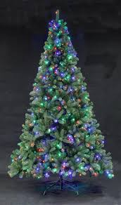devonshire pre lit fir with multi colour leds 4ft to 12ft