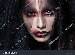 portrait pale gothic vampire woman halloween stock photo 330492440
