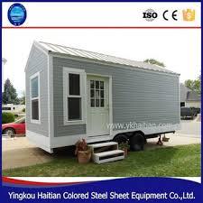 caravane 2 chambres pas cher préfabriqué utilisé remorque maisons kit cing car 2