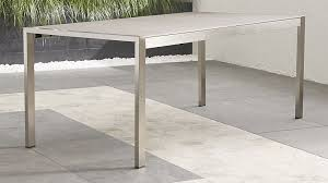 Crate And Barrel Outdoor Furniture Covers by Dune Faux Concrete Dining Table Crate And Barrel