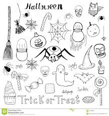 set of hand drawn halloween vector doodle elements stock vector