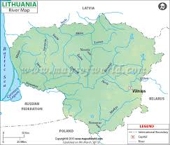 map of europe and russia rivers lithuania river map river map of lithuania