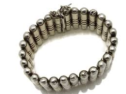 delmar sterling silver round green hector aguilar bullet cylinder bracelet taxco mexican sterling
