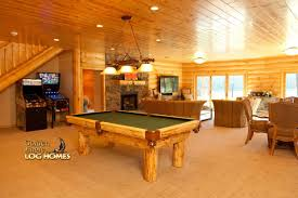 basement homes golden eagle log and timber homes log home cabin pictures
