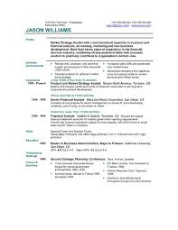 Strategic Planning Resume Resume Examples Example Of Resume By Easyjob The Best Free