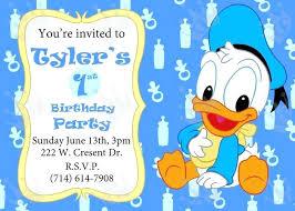 baby mickey 1st birthday baby mickey birthday invitations duck invitation birthday