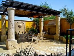 Decorative Concrete Pillars Pergola Design Ideas Patio With Pergola Astonishing Design Stamped