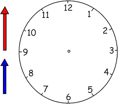 printable clock template without numbers clock hands template