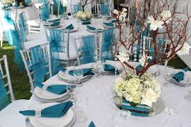 turquoise and silver wedding decorations 12802