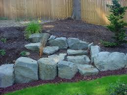 landscape boulders u0026 wall rock portland rock and landscape