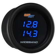 wide band glowshift black 7 series dual digital wideband air fuel 10 0