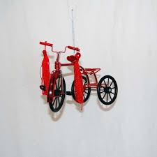 wire tricycle ornament flower pedal trike bicycle ormament