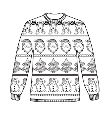 free christmas jumper colouring sheet coloring pages fashion