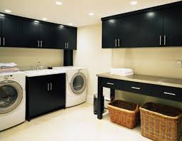 bathroom black white laundry room design with black wall mounted