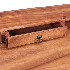 Kleiner Holz Schreibtisch Finebuy Schreibtisch Massiv Holz Sekretär 117cm Breit Mit 3
