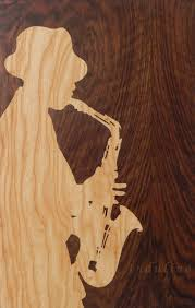 original wooden blues jazz music mood black chill art marquetry
