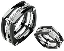 mens wedding rings unique s black wedding bands for the groom criolla brithday wedding