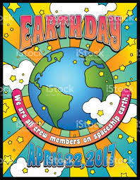 1960s Design Earth Day Poster Card Or Banner Design In 1960s Psychedelic Style