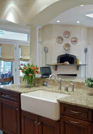 interior design exciting white apron sink with graff faucets and