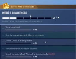 Challenge On Fortnite Pool Windmill Umbrella New Map Challenge Locations