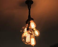 5 edison bulb chandelier ceiling light clustered bulb pendant