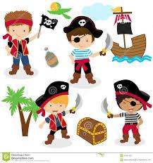 cute set of children pirates royalty free stock image image