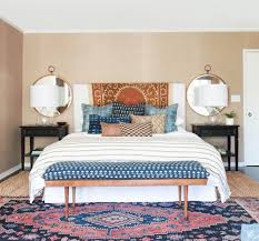 Small Master Bedroom King Size Bed End Of Bed Benches Emily Henderson