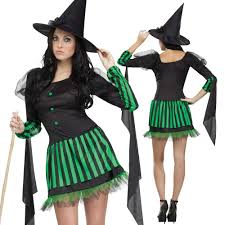 female witch costume green wicked witch costume