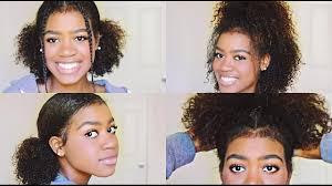 medium length cute hairstyles 4 easy and cute hairstyles for medium length curly hair youtube