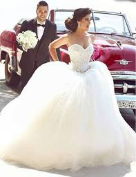 ballgown wedding dresses glamorous tulle gown wedding dress appliques beadings
