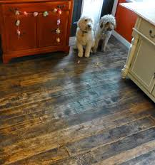 Hardest Hardwood Flooring For Dogs Barnwood And Bangles Reclaimed Wood Kitchen Floor