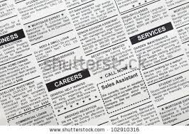 fake classified ad newspaper real estate stock photo 115314508