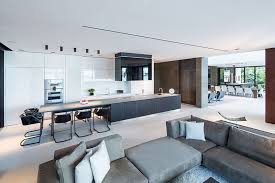 Living Room With Kitchen Design Kitchen Design Idea White Modern And Minimalist Cabinets