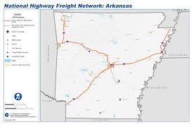 state of arkansas map national highway freight map and tables for arkansas