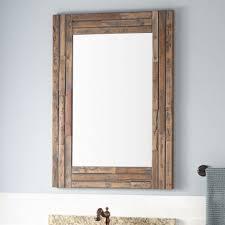 How To Frame A Bathroom Mirror Framed Bathroom Mirrors Signature Hardware