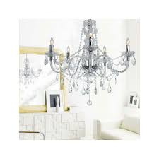 Dining Room Candle Chandelier by Crystal Acrylic Chandelier 5 Lights At Lightingbox Com Canada
