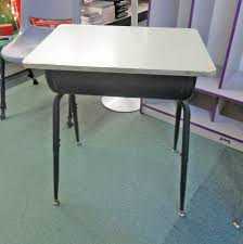 desk with storage cubby