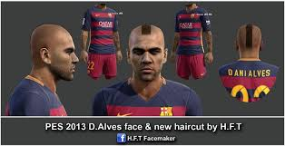 pes 2013 hairstyle pes modif pes 2013 alves face new haircut by h f t