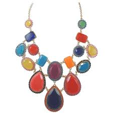 multi color stone necklace images Kate spade multicolor stone bib necklace at 1stdibs jpg
