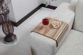 couch arm coffee table amazon com sofa tray table european walnut v2 sofa arm table