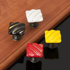 Decorative Dresser Knobs Ceramic Single Hole Decorative Kitchen Cabinet Hardware Handle