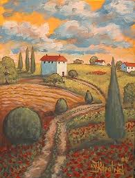 tuscan houses on hill by virginia kilpatrick from gallery