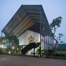 shed style architecture industrial and eco friendly inventive green office in vietnam
