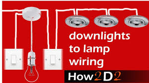 How To Wire Ceiling Lights by Downlights To Lamp U0026 Switch Wiring Spotlights To Switch