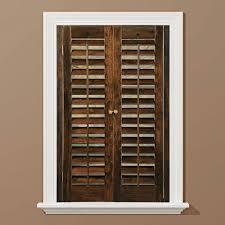 plantation faux wood shutters plantation shutters the home depot