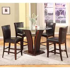 crown mark camelia espresso 5 piece counter height table and stool