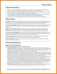 professional summary for resume exles 9 resume professional summary applicationleter