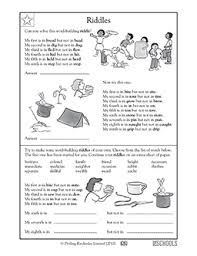 5th grade reading writing worksheets word building riddles